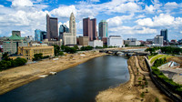 Aerial views of Columbus, OH