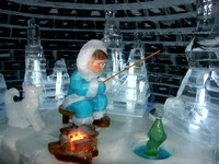 Ice fishing sculpture