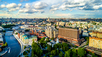 Aerial view of Moscow, Russia