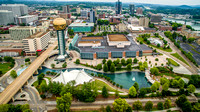 Aerial view of Knoxville, TN